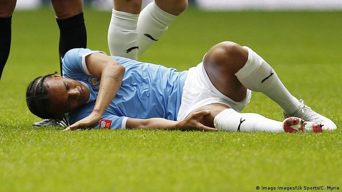 Leroy Sané sufrió una grave lesión durante el Community Shield