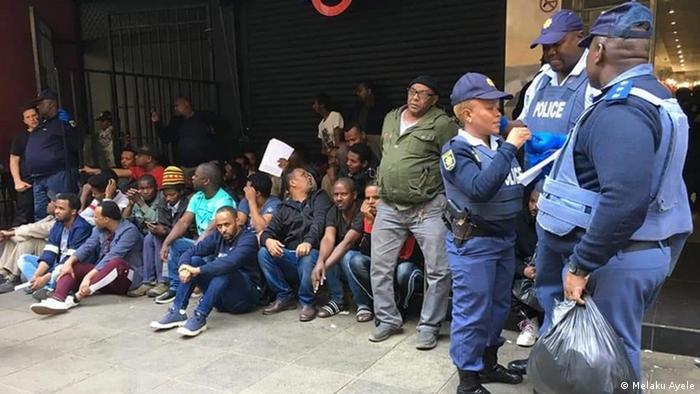 Mais de 250 imigrantes da Etiópia foram detido em Joanesburgo na semana passada
