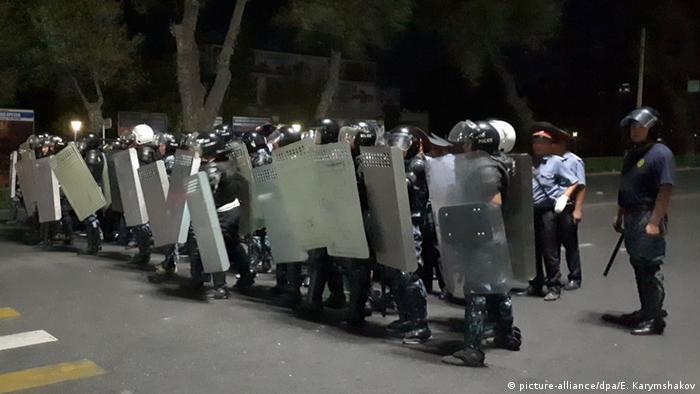 Во время разгона акции протеста в Бишкеке