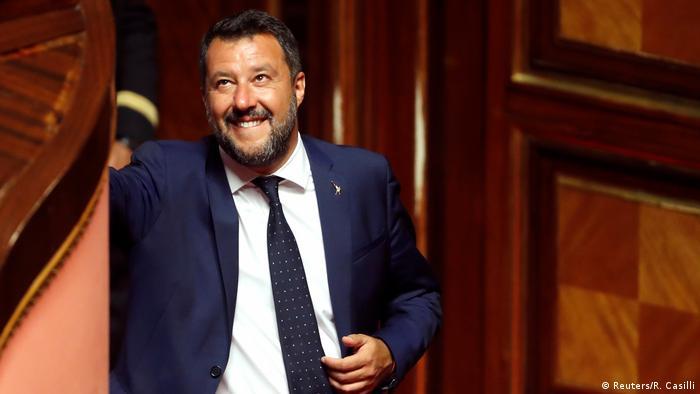 Italien Regierungskrise   Innenminister Matteo Salvini in Rom