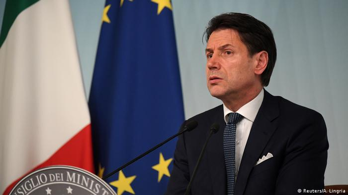Italian Prime Minister Giuseppe Conte in Rome (Reuters/A. Lingria)