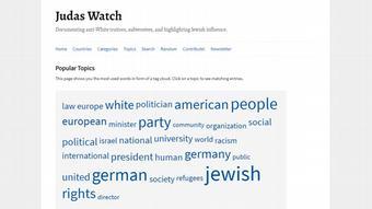 Yahudilerin düşman olarak gösterildiği internet sayfası