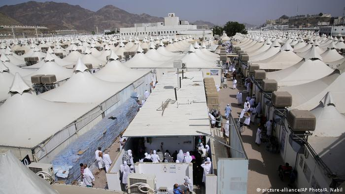 Most hajjis will spend Friday night at this tent city in Mina