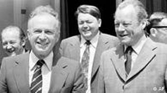 Yitzhak Rabin bei Willy Brandt 1975