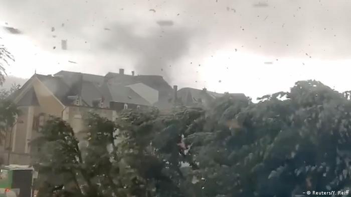 Luxembourg, Petange: Tornado causes destruction (Reuters / Y. Reiff)