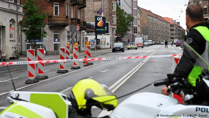 Scene of explosion in Copenhagen