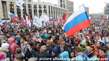 Russland Moskau | Demonstration gegen Polizeigewalt und für freie Wahlen