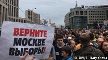 Russland Protestaktion in Moskau