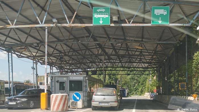 Grenzübergang Brnjak zwischen Serbien und Kosovo ( DW/M. Rakic)