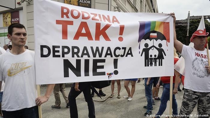 Polen LGBT-Protest für Gleichstellung in Plock
