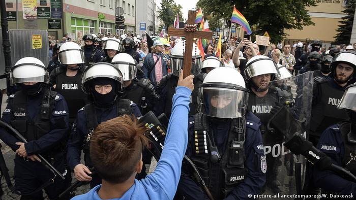 Під час першого в Плоцьку Маршу рівності