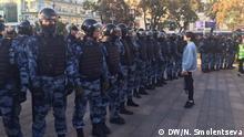 Protestaktion in Moskau. DW-Korrespondentin Natalja Smolentseva