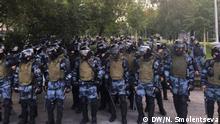 Russland Moskau Polizei bei Protesten