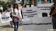 Bulgarien Protest Ärzte und Krankenschwestern in Sofia