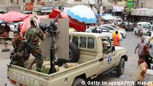 Jemen Krieg STC-Kämpfer (Southern Transitional Council) in Aden
