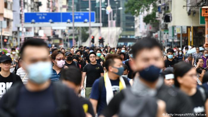 Hong Kong | Proteste gegen das Auslieferungsgesetz in Sham Shui Po (Getty Images/AFP/A. Wallace)