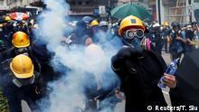 Hongkong Protest gegen China & Auslieferungsgesetz | Tränengas