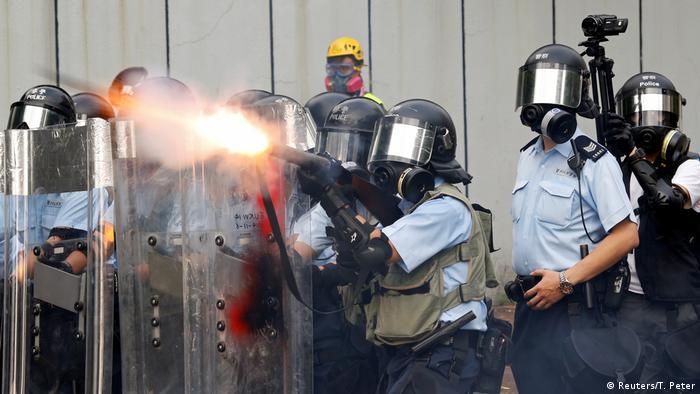 Hongkong Protest gegen China & Auslieferungsgesetz   Tränengas