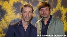 Henner Winckler (l) and Ulrich Koehler pose at the photocall of 'Das freiwillige Jahr' during the Film Festival in Locarno, Switzerland, on 10 August 2019.   Verwendung weltweit