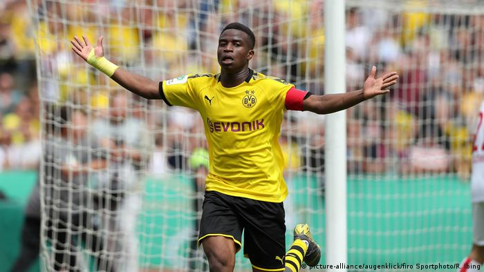 U-17-Finale | Borussia Dortmund - 1.FC Köln - Youssoufa Moukoko Fußball, Fussball,Saison 2018/2019, U-17-Finale,B-Junioren, Finale Deutsche Meisterschaft, BVB, Borussia Dortmund - 1.FC Köln