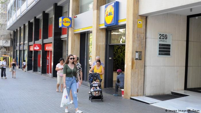 Lidl store in Barcelona