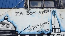 Kroatien Zagreb | faschistisches Graffiti