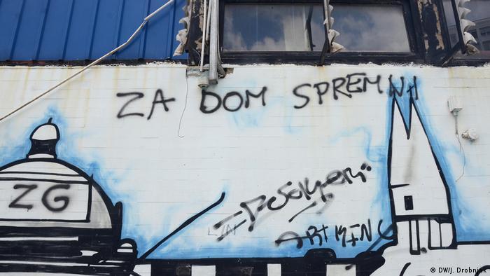 Kroatien Zagreb   faschistisches Graffiti (DW/J. Drobnjak)