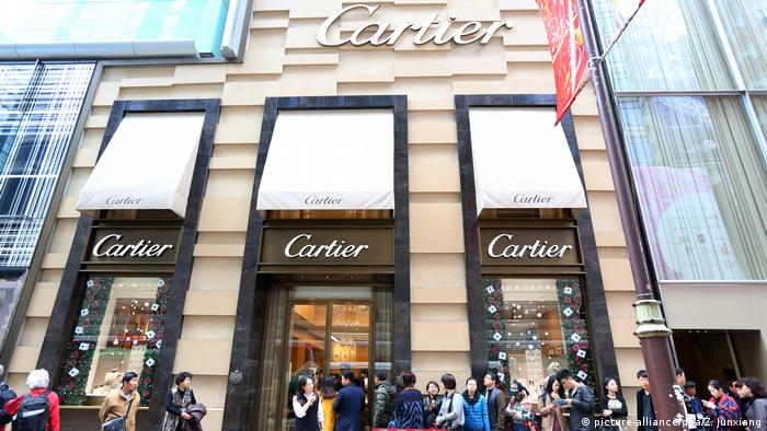 A Cartier showroom in Hong Kong