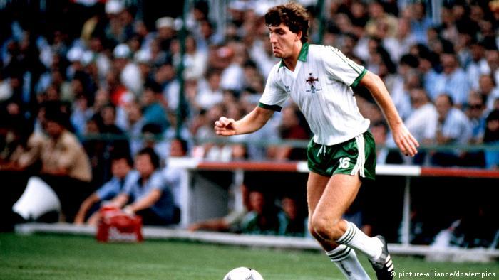 Großbritannien 1982 Fußballspieler Norman Whiteside (picture-alliance/dpa/empics)