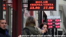 Argentinischer Peso fällt auf neues Allzeittief.
