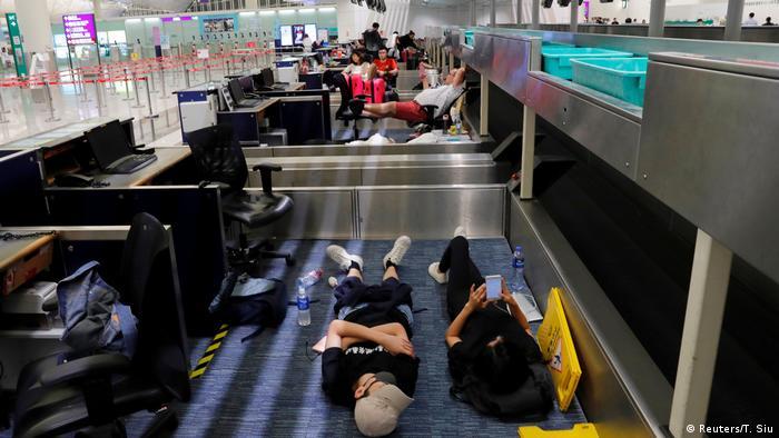 Hongkong Proteste am International Airport