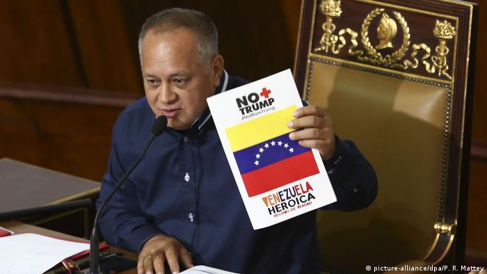 Venezuela Konflikte Diosdado Cabello (picture-alliance/dpa/P. R. Mattey)
