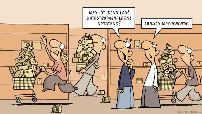 Cartoon von Fernandez | Verstehen Sie Deutsch? | Langes Wochenende
