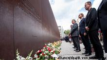 Deutschland Gedenken an den Bau der Berliner Mauer vor 58 Jahren