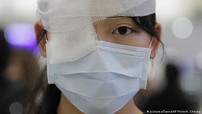 Hongkong Internationaler Flughafen Proteste (picture-alliance/AP Photo/K. Cheung)