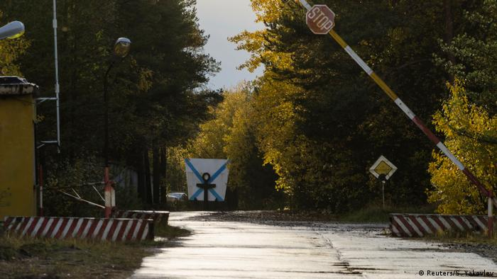 The entrance checkpoint of a military garrison
