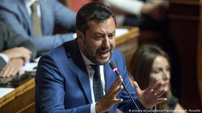 Italien Regierungskrise   Innenminister Matteo Salvini in Rom (picture-alliance/Zuma Press/LaPresse/R. Monaldo)
