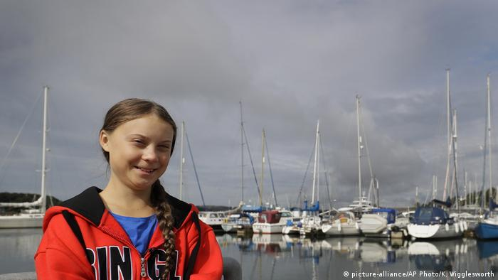 Greta Thunberg an Bord der Malizia II (picture-alliance/AP Photo/K. Wigglesworth)