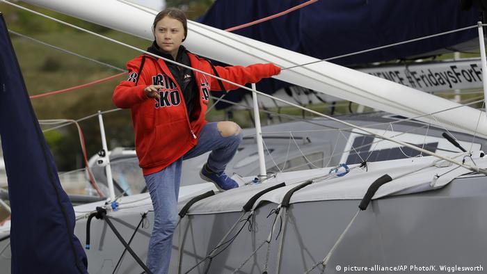 Greta Thunberg an Bord der Malizia II