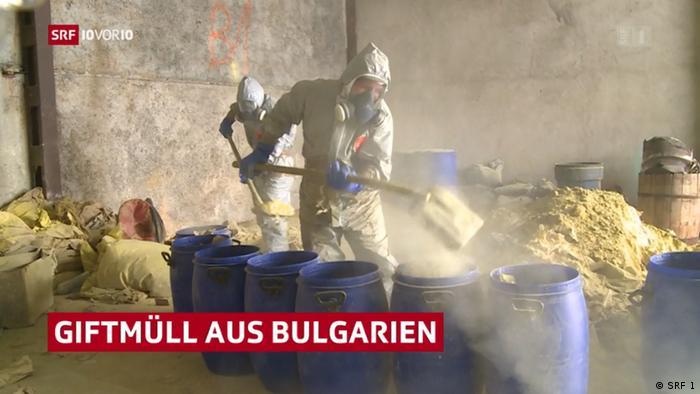 Кадър от репортажа на швейцарската телевизия