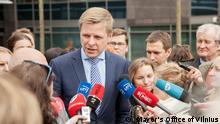 Bürgermeister von Vilnius, Litauen - Remigijus Simasius