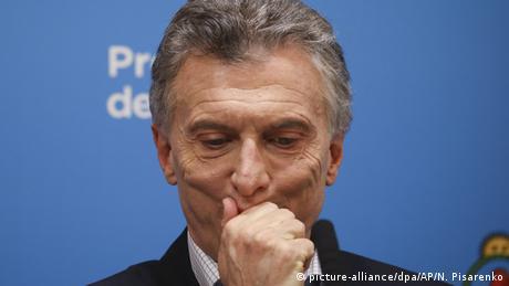 Argentinien Buenos Aires | Mauricio Macri, Präsident von Argentinien während Pressekonferenz (picture-alliance/dpa/AP/N. Pisarenko)