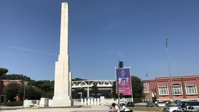 The Mussolini Obelisk in Rome