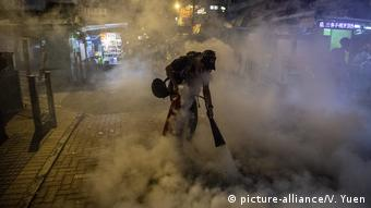 Proteste in Hongkong (picture-alliance/V. Yuen)