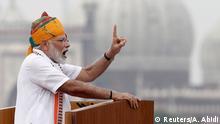Indien Neu Delhi   Indien feiert 73. Unabhängigkeitstag
