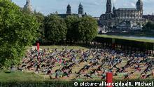 BdT Yoga beim Palaissommer in Dresden