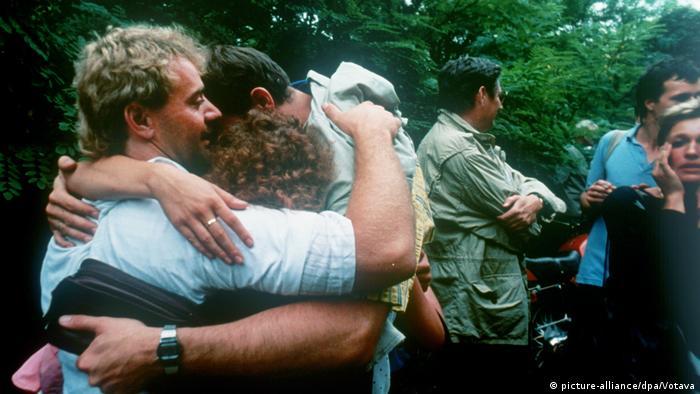 Grenzöffnung Österreich - Ungarn 1989 - geflüchtete Bürger der DDR