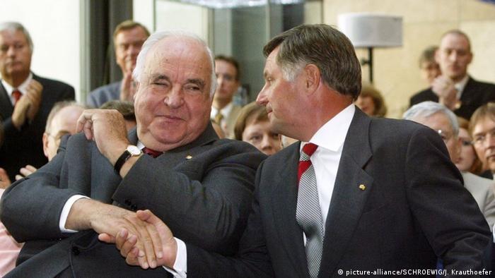 Helmut Kol i Nemet Mikloš, bivši mađarski premijer