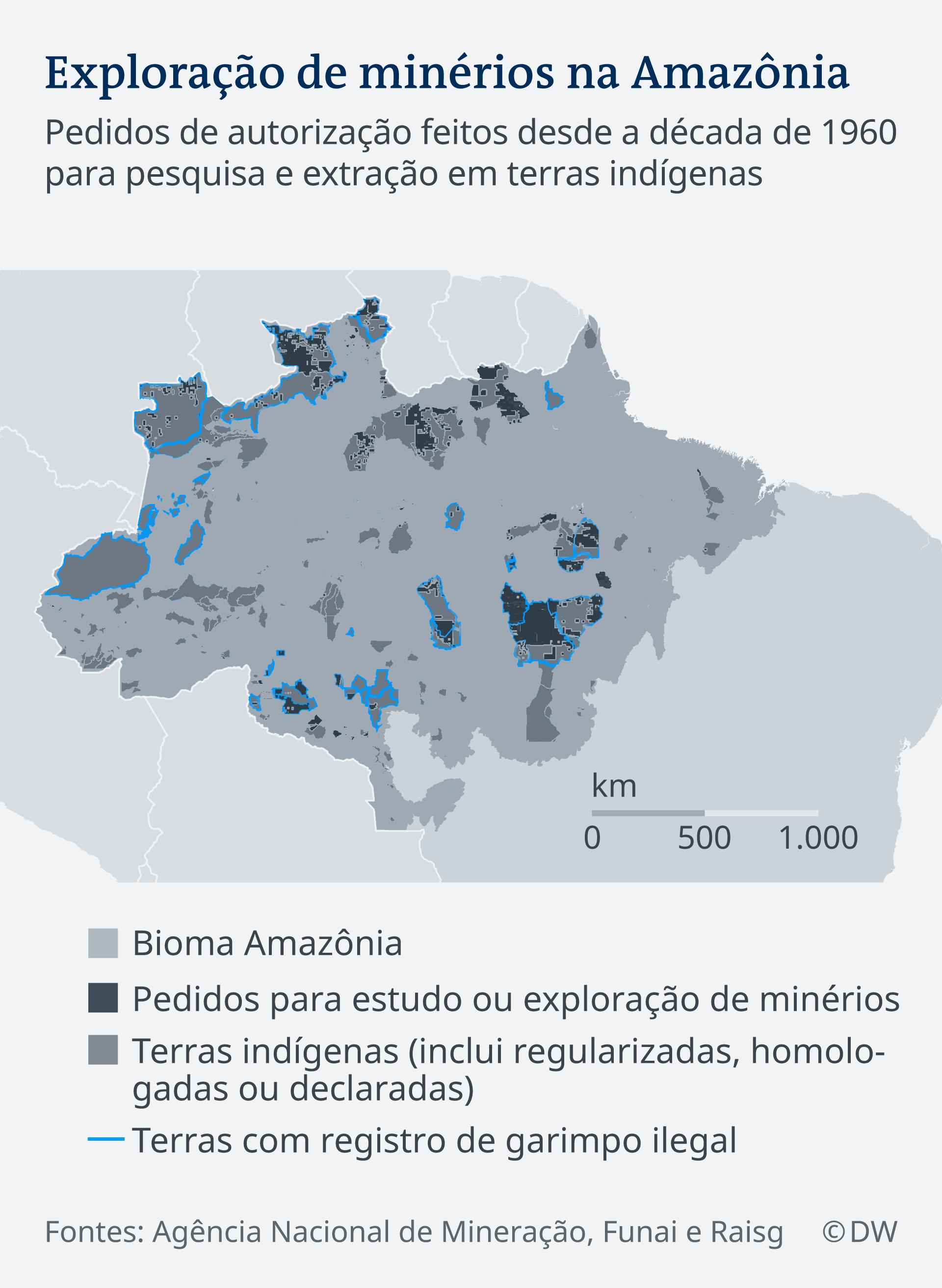 Infografik Karte Abbau Mineralien Amazonasgebiet Brasilien PT