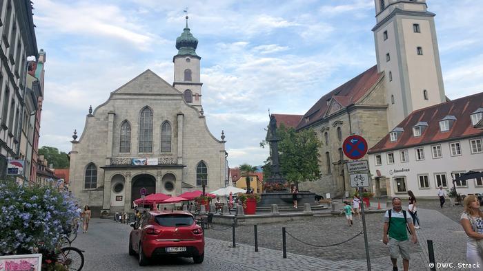 Centro de la ciudad alemana de Lindau.
